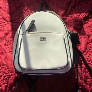 GUESS white mini backpack